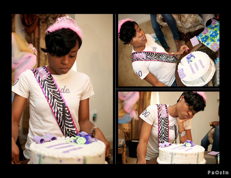 She has this look for cakes; remember her birthday pictures? She stared the same way at the cake :-)